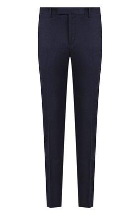 Мужской шерстяные брюки прямого кроя CORNELIANI синего цвета, арт. 824215-8818537/02   Фото 1