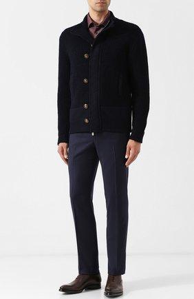 Мужской шерстяные брюки прямого кроя CORNELIANI синего цвета, арт. 824215-8818537/02   Фото 2