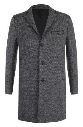 Шерстяное однобортное пальто Harris Wharf London серого цвета | Фото №1