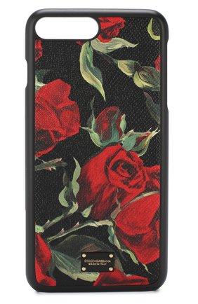 Кожаный чехол для iPhone 7/8 Plus с принтом | Фото №1