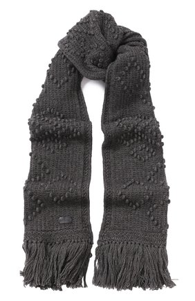 Шерстяной шарф с бахромой | Фото №1
