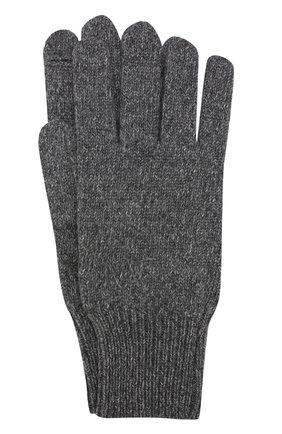 Вязаные перчатки из кашемира Alexandra Golovanoff серые | Фото №1