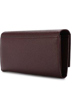 Женские кожаный кошелек с клапаном DOLCE & GABBANA бордового цвета, арт. BI0087/AU771 | Фото 2