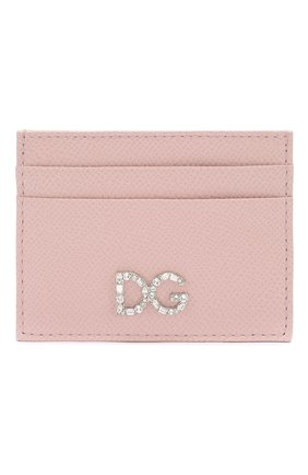 Женский футляр для кредитных карт DOLCE & GABBANA светло-розового цвета, арт. BI0330/AU771 | Фото 1