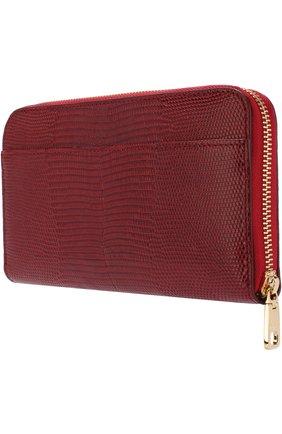 Кожаный кошелек на молнии Dolce & Gabbana красного цвета | Фото №2
