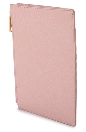 Женский кожаный футляр для кредитных карт с отделением на молнии DOLCE & GABBANA светло-розового цвета, арт. BI1154/A1001 | Фото 2