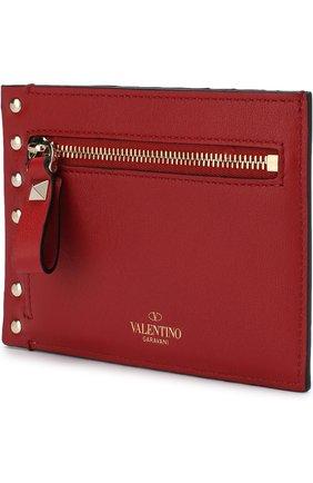 Женский кожаный футляр для кредитных карт valentino garavani rockstud VALENTINO красного цвета, арт. QW2P0Q60/B0L | Фото 2