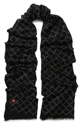 Кашемировый палантин с отделкой стразами Vintage Shades черный | Фото №1