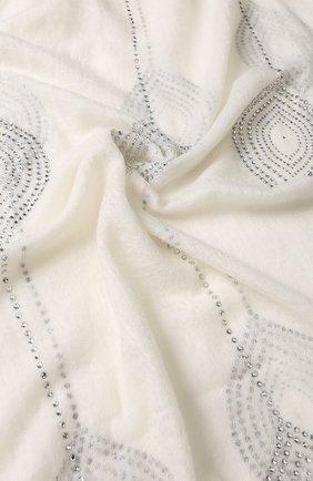 Кашемировый палантин с отделкой стразами Vintage Shades белый | Фото №1