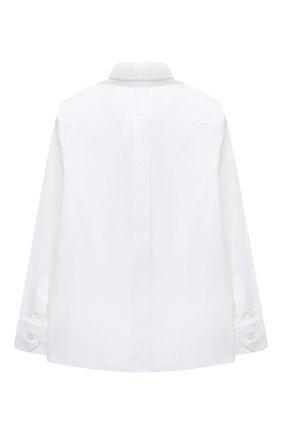Детская хлопковая рубашка с воротником кент DOLCE & GABBANA белого цвета, арт. L42S55/FUEAJ/2-6 | Фото 2 (Статус проверки: Проверена категория; Рукава: Длинные; Материал внешний: Хлопок; Принт: Без принта; Случай: Формальный; Стили: Классический; Ростовка одежда: 2 года | 92 см, 3 года | 98 см, 4 года | 104 см, 5 лет | 110 см, 6 лет | 116 см)