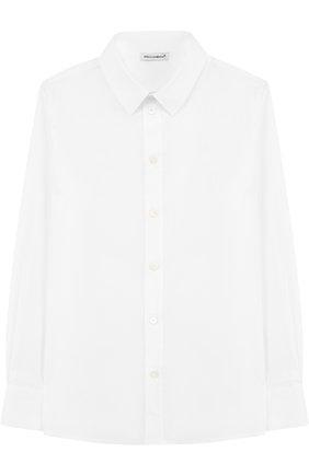 Детская хлопковая рубашка с воротником кент DOLCE & GABBANA белого цвета, арт. L42S55/FUEAJ/8-14 | Фото 1