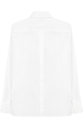 Детская хлопковая рубашка с воротником кент DOLCE & GABBANA белого цвета, арт. L42S55/FUEAJ/8-14 | Фото 2