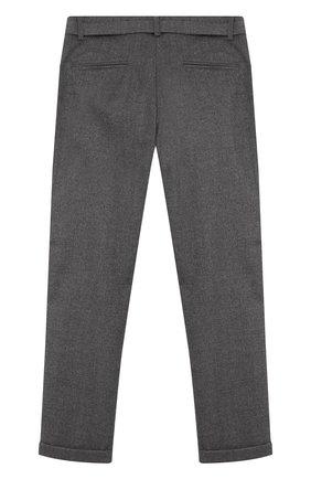 Детского брюки прямого кроя с поясом ALETTA темно-серого цвета, арт. AF555089R/9A-16A | Фото 2