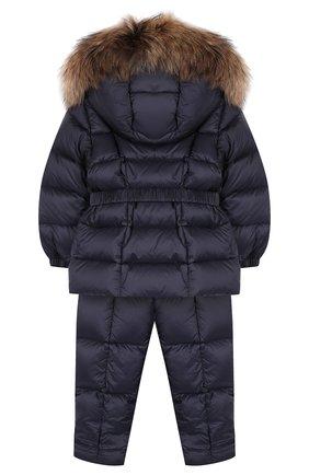 Детский комплект из пуховой куртки и комбинезона на подтяжках MONCLER ENFANT синего цвета, арт. D2-951-70336-25-53048 | Фото 2