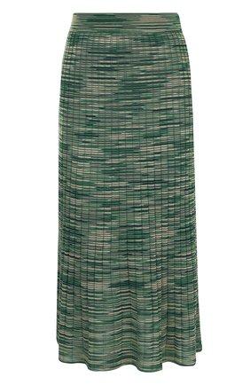 Вязаная юбка-миди из смеси шерсти вискозы   Фото №1