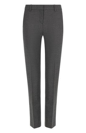 Укороченные брюки прямого кроя со стрелками   Фото №1