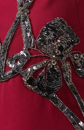 Однотонное платье-макси с декоративной отделкой   Фото №5