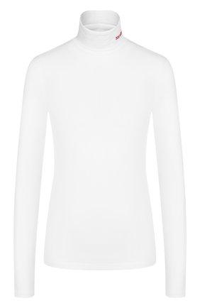 Хлопковая водолазка с логотипом бренда CALVIN KLEIN 205W39NYC белая | Фото №1