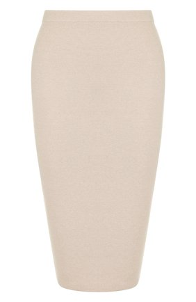 Однотонная юбка-карандаш с эластичным поясом D.Exterior светло-голубая | Фото №1