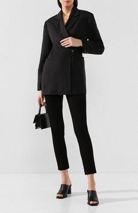 Женские брюки из смеси хлопка и вискозы JOSEPH черного цвета, арт. JP000040 | Фото 2