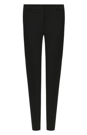 Однотонные укороченные брюки из смеси хлопка и вискозы Joseph черные | Фото №1