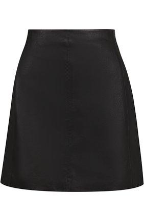 Кожаная мини-юбка Joseph черная | Фото №1