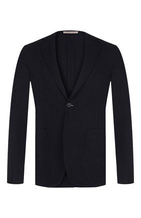 Мужской кашемировый пиджак BOTTEGA VENETA темно-синего цвета, арт. 513767/VELA0   Фото 1