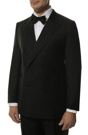 Шерстяной костюм с двубортным пиджаком | Фото №2