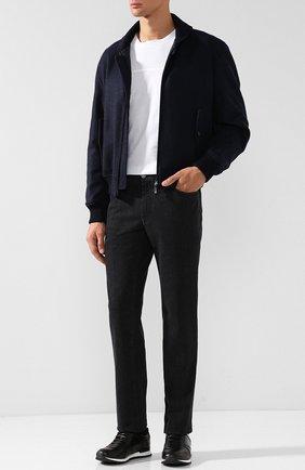 Мужские джинсы прямого кроя BRIONI черного цвета, арт. SPLE0L/07D18/CHAM0NIX | Фото 2