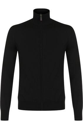 Мужской шерстяной кардиган BRIONI черного цвета, арт. UMT20L/0ZK18 | Фото 1