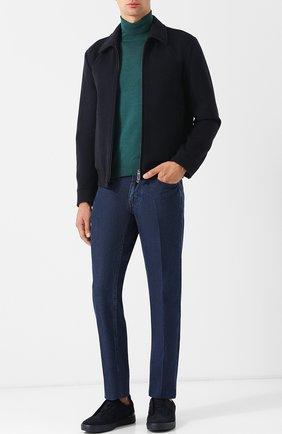Мужские замшевые кеды ZEGNA COUTURE темно-синего цвета, арт. A2511X-CAC | Фото 2