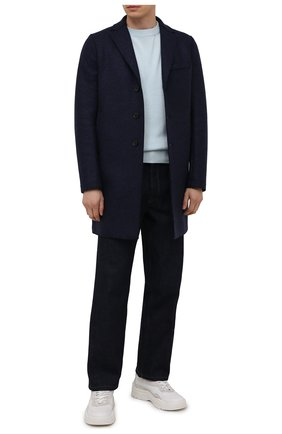 Мужской шерстяное пальто HARRIS WHARF LONDON синего цвета, арт. C9101MLK | Фото 2