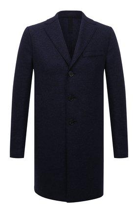 Однобортное шерстяное пальто Harris Wharf London синего цвета | Фото №1