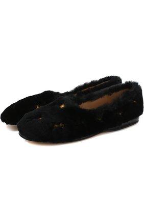 Женские балетки skye с вышивкой CHLOÉ черного цвета, арт. CHC18A04926 | Фото 1