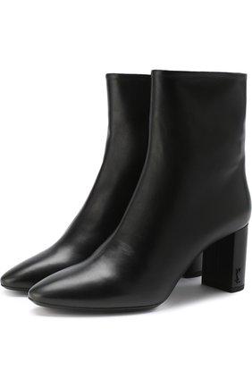 Женские кожаные ботильоны lou на устойчивом каблуке SAINT LAURENT черного цвета, арт. 529350/0RRVV | Фото 1
