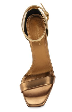 Босоножки Amber из металлизированной кожи на шпильке | Фото №5