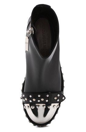 Кожаные ботинки с декорированным мысом | Фото №5