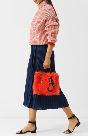 Сумка The Fur Mini Grind Marc Jacobs красная цвета | Фото №1