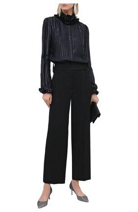 Женская текстильные туфли romy 60 с люрексом JIMMY CHOO серого цвета, арт. R0MY 60/LAG | Фото 2