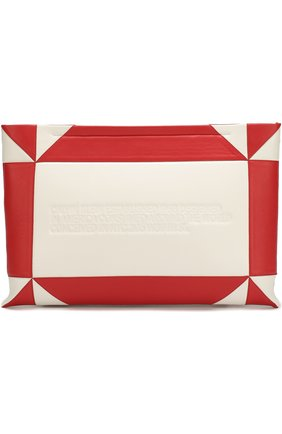 Кожаный клатч на молнии CALVIN KLEIN 205W39NYC разноцветного цвета | Фото №1