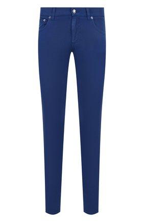 Укороченные джинсы зауженного кроя   Фото №1