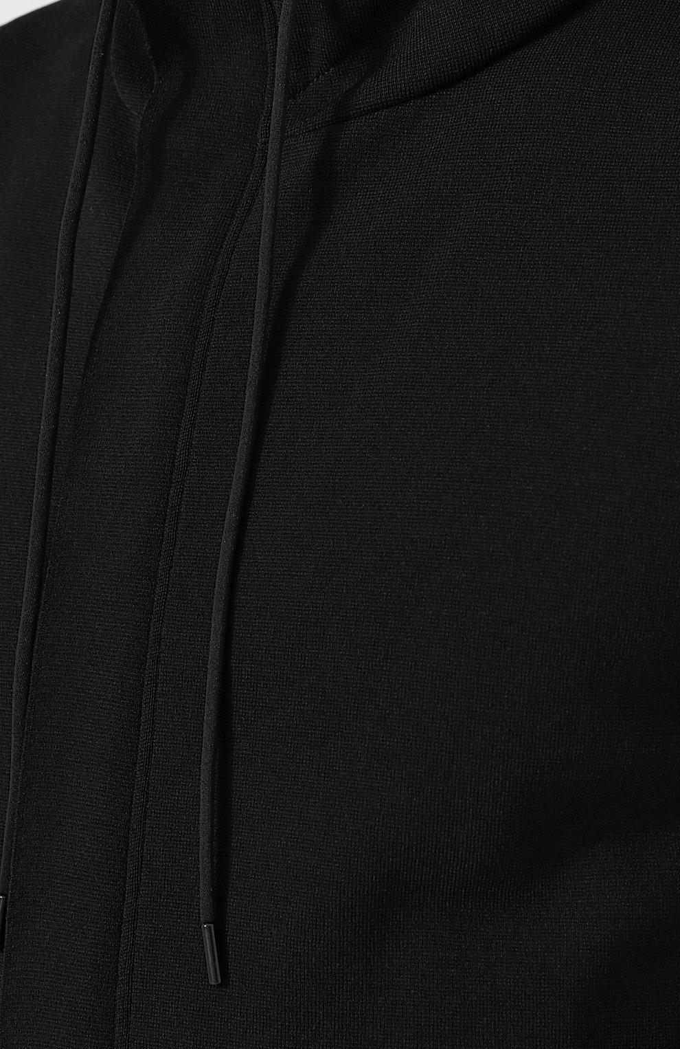 Жилет на молнии с капюшоном из вискозы   Фото №5
