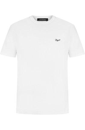 Однотонная хлопковая футболка Ermenegildo Zegna белая | Фото №1