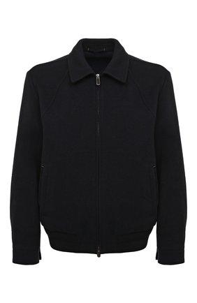 Однотонная куртка на молнии из смеси шерсти и кашемира | Фото №1