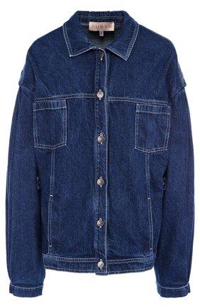 Джинсовая куртка с накладными карманами Ruban голубая | Фото №1