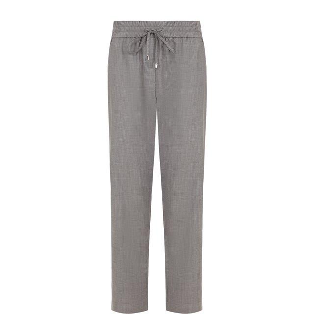 Укороченные шерстяные брюки с эластичным поясом Escada Sport