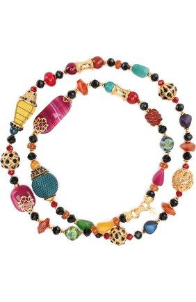 Колье с кристаллами Swarovski Larisa Barrera разноцветное | Фото №1
