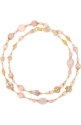 Колье с кристаллами Swarovski Larisa Barrera розовое | Фото №1