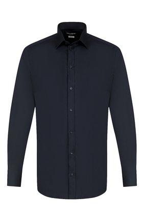 Мужская хлопковая сорочка с воротником кент DOLCE & GABBANA синего цвета, арт. G5EJ0T/FUMRY | Фото 1
