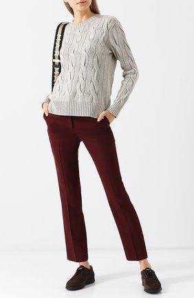 Женский хлопковый пуловер POLO RALPH LAUREN серого цвета, арт. 211706244   Фото 2